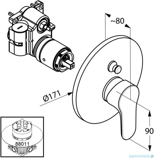 Kludi Objekta Podtynkowa bateria wannowo-natryskowa chrom 326570575