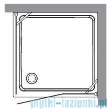 Kerasan Kabina kwadratowa lewa, szkło dekoracyjne przejrzyste profile chrom 100x100 Retro 9150N0