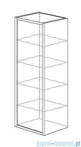 Antado Grande słupek wysoki lewy 40x32x150cm dąb Sonoma+biały GR-161L-3025/WS