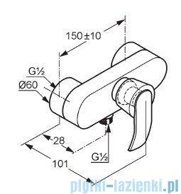 Kludi Joop Bateria natryskowa jednouchwytowa DN 15 chrom/szkło zielone 55423H775