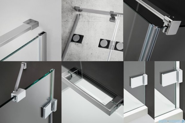 Radaway Euphoria KDJ Kabina prysznicowa 100x90 lewa szkło przejrzyste 383040-01L/383050-01