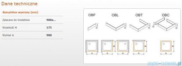 Sanplast Obudowa frontowa do brodzika OBF 90x17,5 cm 625-403-0320-01-000