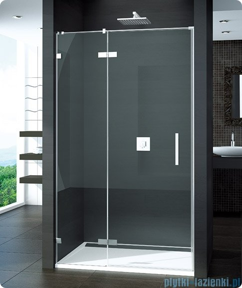 SanSwiss Pur PU13P Drzwi 1-częściowe 90cm profil chrom szkło przejrzyste Lewe PU13PG0901007