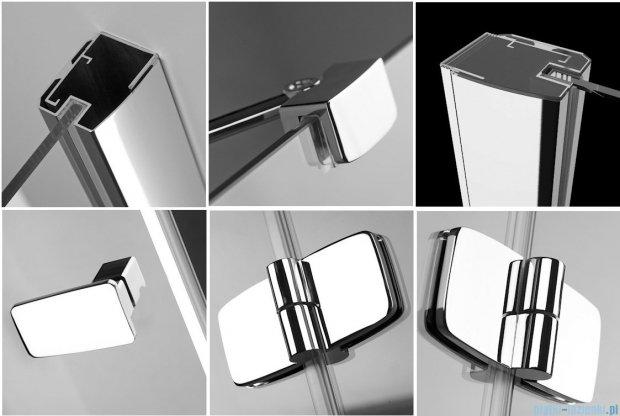 Radaway Kabina prysznicowa Fuenta KDJ+S 80x80x80 prawa szkło przejrzyste + Brodzik Argos C + syfon 381031-01R1 / 381031-01R2