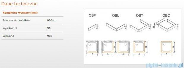 Sanplast Obudowa frontowa do brodzika OBF 90x9 cm 625-400-0320-01-000