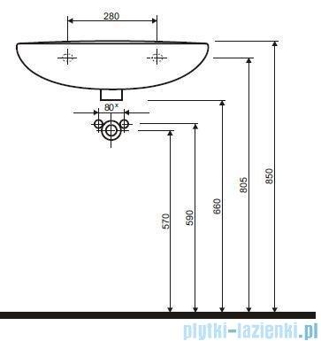 Koło Idol Umywalka 60cm bez otworu M11060000