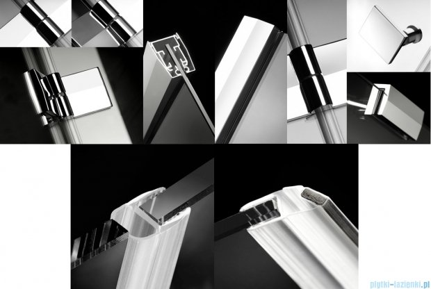 Radaway Almatea PDD Kabina półokrągła 90x90 szkło przejrzyste + Brodzik Delos A 90 + syfon 30502-01-01N