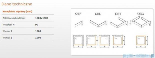 Sanplast Obudowa brodzika OBL 100x180x9 cm 625-400-1710-01-000