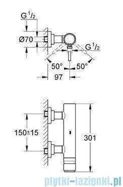 Grohe Atrio jednouchwytowa bateria prysznicowa chrom 32650001