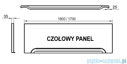 Ravak Przedni panel A 180 do wanien CZ001Y0A00