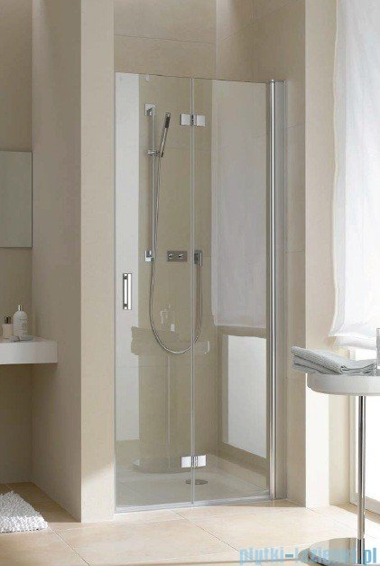 Kermi Diga Drzwi wahadłowo-składane, prawe, szkło przezroczyste, profile srebrne 110x200 DI2DR11020VAK