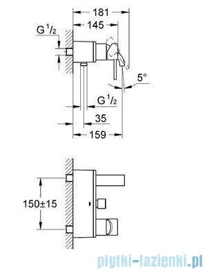Grohe Allure jednouchwytowa bateria wannowa chrom 32826000