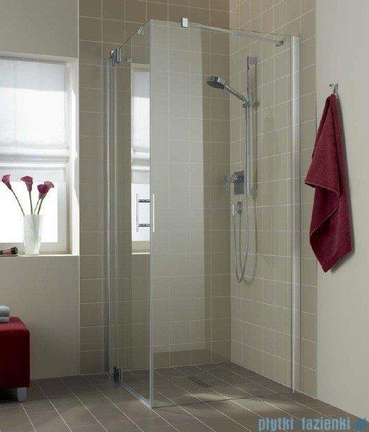Kermi Filia Xp Ściana boczna z profilem przyściennym, szkło przezroczyste, profile srebrne 75x200cm FXTWD07520VAK