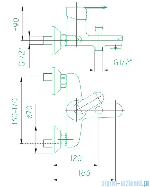 KFA Cyrkon bateria wannowa, kolor decorum 584-030-00