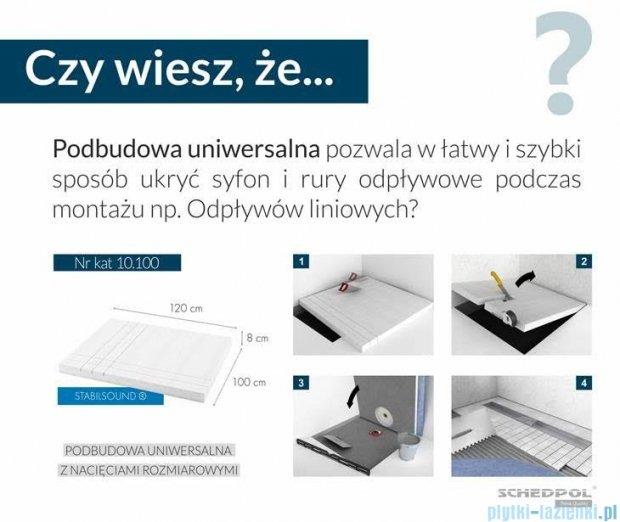 Schedpol nośnik styropianowy uniwersalny do brodzików prostokątnych i kwadratowych 10.100