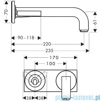 Hansgrohe Axor Citterio Jednouchwytowa bateria umywalkowa podtynkowa 39115000