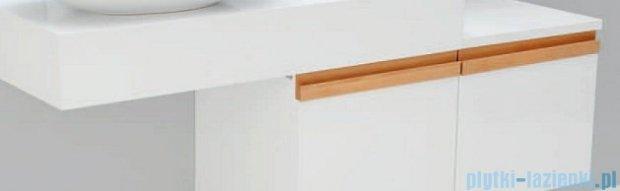 Antado Combi szafka z blatem prawym i umywalką Mia biały/jasne drewno ALT-140/45GT-WS/dn+ALT-B/1R-1000x450x150-WS+UCS-TC-60