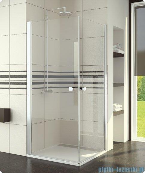 SanSwiss Swing-Line Sle1 Wejście narożne jednoczęściowe 100cm profil biały szkło przejrzyste Prawe SLE1D10000407