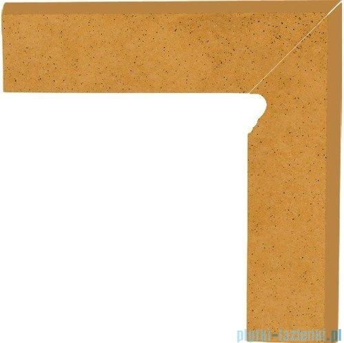 Paradyż Aquarius beige klinkier cokół schodowy prawy 30x30
