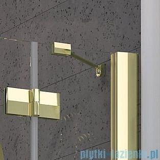 Radaway Almatea PDJ GOLD kabina półokrągła 90x90 Prawa szkło przejrzyste 30702-09-01N