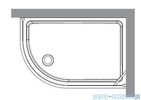 Kerasan Kabina półokrągła lewa szkło przejrzyste profile brązowe 80x120 Retro 9138T3