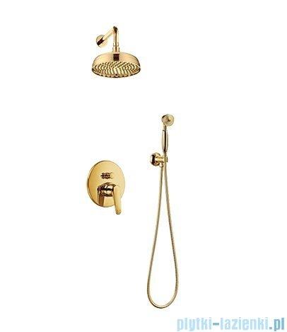 Omnires Art Deco kompletny zestaw podtynkowy złoto SYSAD27ZŁ