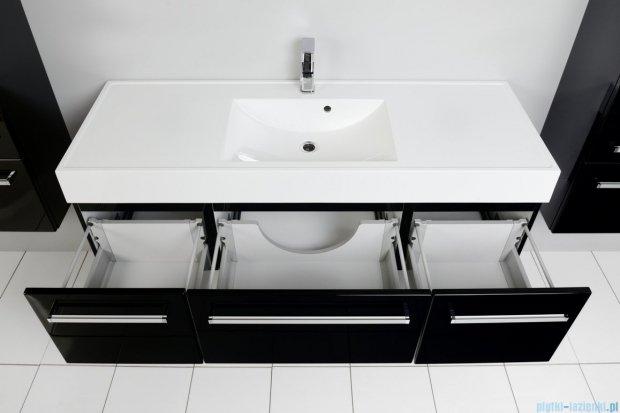Antado Variete szafka z umywalką, wisząca 140 czarny połysk 2xFM-442/4-9017 + FM-442/6-9017 + UNAM-1404C