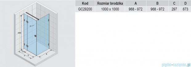 Riho Scandic S203 kabina prysznicowa 100x100x200 cm GC29200