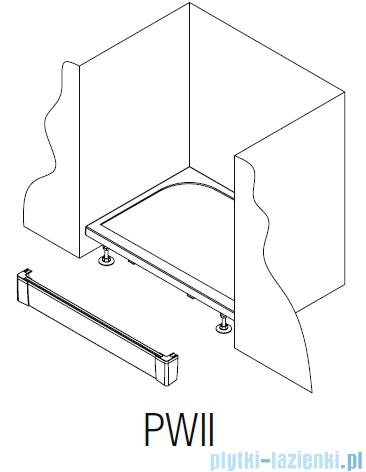 SanSwiss PWII Obudowa brodzika 1-stronna 70cm czarny mat PWII07006
