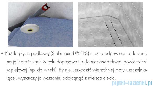 Schedpol brodzik posadzkowy podpłytkowy z odpływem chrom 140x80x5cm 10.009/OLKB/CH