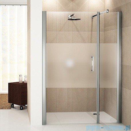 Novellini Drzwi do wnęki z elementem stałym GIADA G+F 96 cm lewe szkło przejrzyste profil srebrny GIADNGF96S-1B