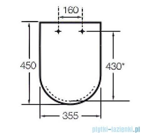 Roca Dama-n Deska WC twarda biała A801780004