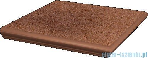 Paradyż Taurus brown klinkier stopnica z kapinosem narożna 33x33