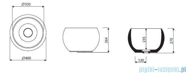 Marmorin umywalka nablatowa Perła bez otworu 40 cm biała 360040020010
