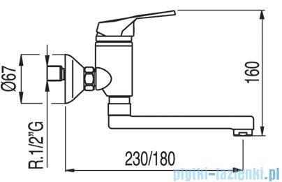 Tres Eco-Tres Bateria zlewozmywakowa ścienna kolor chrom 1.70.320.02