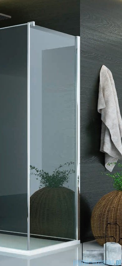 SanSwiss Pur PUDT3P Ścianka boczna wymiary specjalne 30-100/do 200cm pas satynowy PUDT3PSM21051
