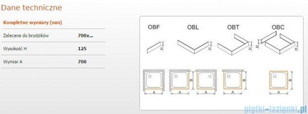 Sanplast Obudowa frontowa do brodzika OBF 70x12,5 cm 625-401-0110-01-000