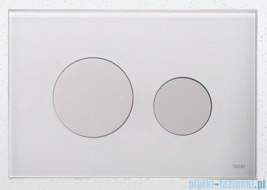 Tece Przycisk spłukujący ze szkła do WC Teceloop szkło białe przyciski białe 9.240.650