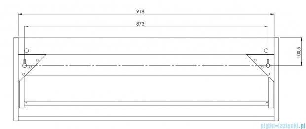 Antado Susanne szafka z umywalką Bali biała/blat brąz 95x46cm AS-140/95-WS+AS-B/2-140/95-70+UCS-TC-65