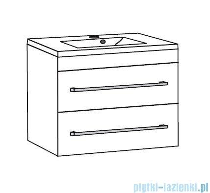 Antado Spektra ceramic szafka podumywalkowa 2 szuflady 72x43x50 szary połysk wolfram grey FDF-AT-442/75/2GT-56