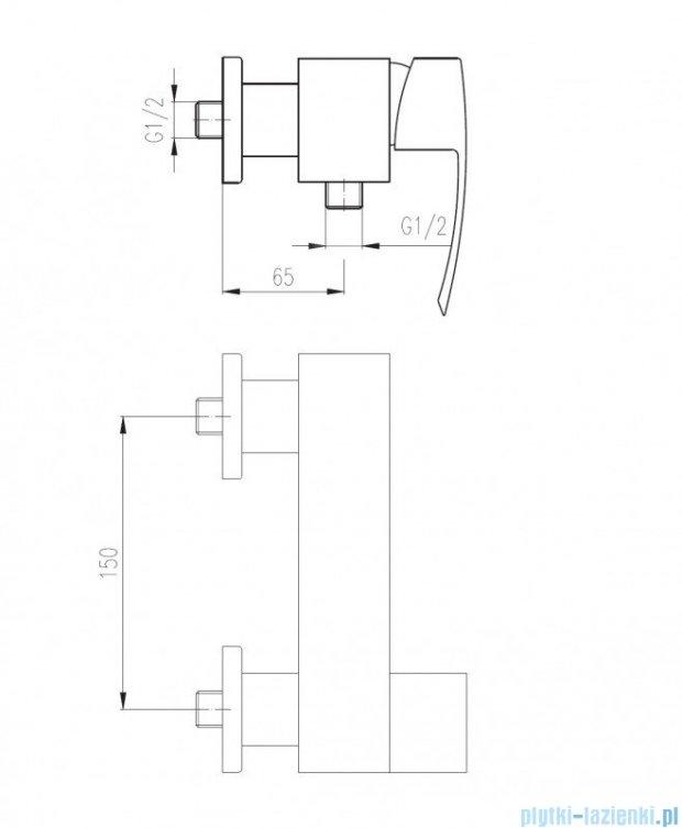 Deante VIGO Bateria natryskowa BDW 040M