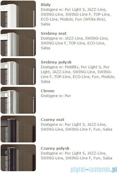 SanSwiss PUR PU31 Drzwi prawe wymiary specjalne do 200cm pas satynowy PU31DSM41051