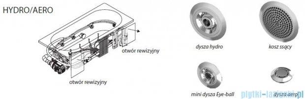 Riho Delta wanna asymetryczna lewa 150x80 z hydromasażem Hit Hydro 6+4+2/Aero11 BB81H3