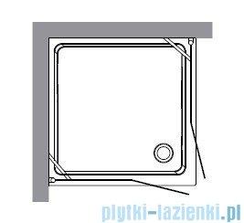 Kerasan Retro Kabina kwadratowa szkło piaskowane profile chrom 90x90 9145S0