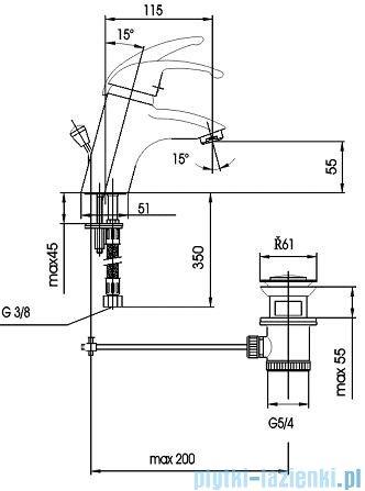 KFA PIRYT Bateria umywalkowa stojąca 442-845-00