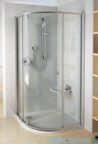 Ravak Kabina prysznicowa Pivot PSKK3 półokrągła 100x100 białe + chrom transparent 376AA100Z1