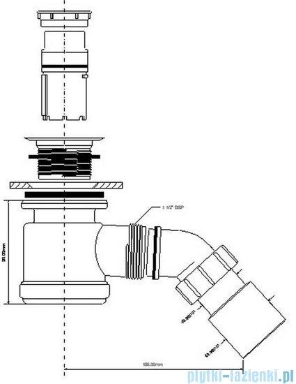 McAlpine Syfon brodzikowy 50''pokrywa kolorze chrom HC26-CP
