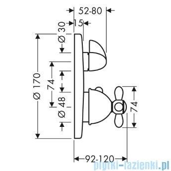 Hansgrohe Axor Carlton Bateria termostatowa podtynkowa kolor chrom/złoty 17725090