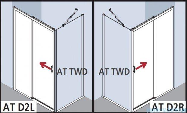 Kermi Atea Drzwi przesuwne bez progu, lewe, szkło przezroczyste KermiClean, profile srebrne 130x185 ATD2L13018VPK