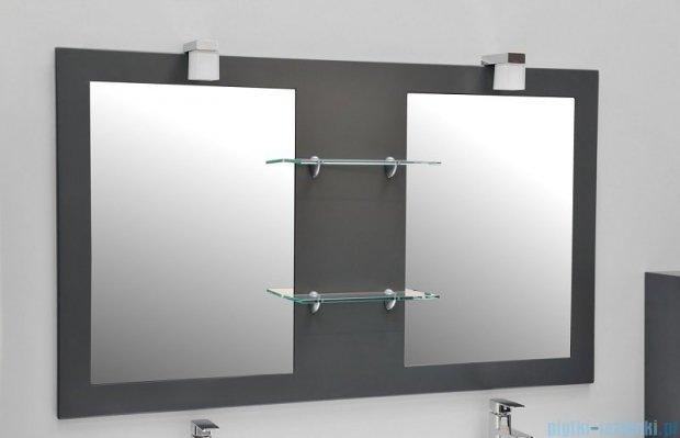 Antado Sycylia lustro podwójne z półkami 136x80 grafit mat KTS-L2-80x136-U164
